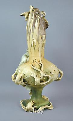 Monumental Art Nouveau Amphora Vase RSTK Stellmacher Teplitz