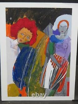 Picasso Contemporary S Poidevain b. 1936 Austrian Successionist Influence Nouveau