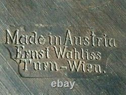 RARE ART NOUVEAU VIENNESE CERAMIC WALL PLAQUE, BY ERNST WAHLISS #314 c1890