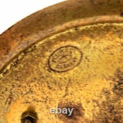 RARE Austrian Gudrun Three Piece Mantle Clock 2 Matching Vases Art Deco Nouveau