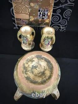 RSTK Amphora Austria Reissner Kessel Turn Teplitz 3 Piece Set