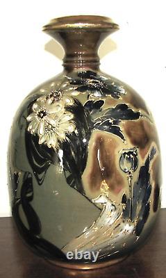 RStK Teplitz Stellmacher Art Nouveau Amphora Portrait Vase