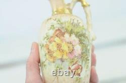 Rare Antique 1800s Turn Teplitz Amphora Bohemia Pitcher RSTK Very Good Condition