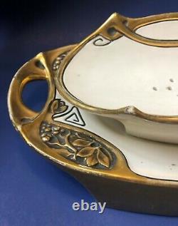 Rare Antique Art Nouveau J. Dressler Asparagus Dish