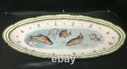 Rare Antique Victoria Austria Limoges Fish Pattern Gold Trim 24 Platter Dish