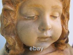 Rare & Important AUSTRIAN ART NOUVEAU Terracotta Figure c. 1900 Goldscheider