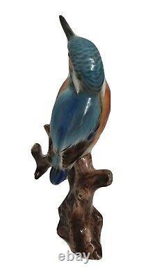 Rare Keramos Wien Austria Porcelain Large Bird on Branch HAND PAINT Figurine