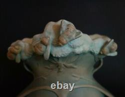 Rare vintage Bernard Bloch Matt Glaze Art Nouveau Austrian ceramic vase Bees
