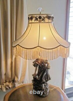 Rarest Antique Depose' Turn Wien E W 1880's Art Nouveau Austrian Porcelain Lamp