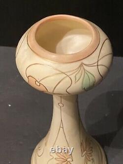 Royal Dux Art Nouveau Porcelain Vase with Pastel Cherries (Austrian)