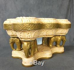 Stunning Quality Large Austrian Table Centre Piece With Elephants