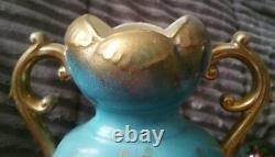 Superb Vintage Beehive Mark Royal Vienna 12 Lady On The Moon Portrait Vase