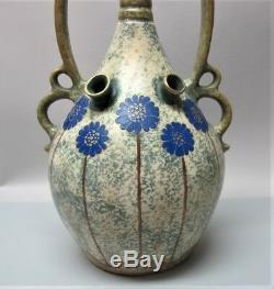 Superior 16 PAUL DASCHEL for AMPHORA Art Nouveau Pottery Vase c. 1905 Austria