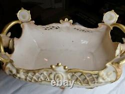 Teplitz amphora bowl/vase