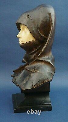 Terracotta bust Madonna Nuremberg 1800 XIX Goldscheider Austria Vienna Liberty