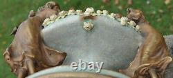 Three Graces Amphora Porcelain Group Art Nouveau Vase planter pottery Austria