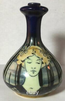 Turn Teplitz Amphora Porcelain Lady / Maiden Portrait Vase RSTK Art Nouveau