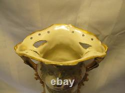Turn Wien Austria Antique Ernst Wahliss Porcelain Vase SweetPea GORGEOUS 14 1/2