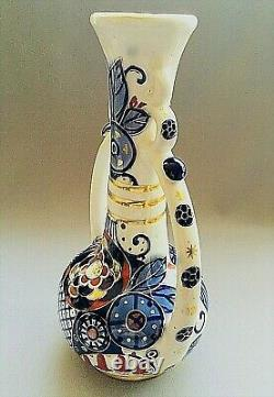 Unique Amphora Royal Crown Imperial Austria Teplitz Art Nouveau Pictured Vase