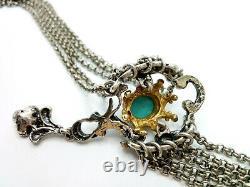 Vintage 40's Austrian Art nouveau Silver Festoon Necklace