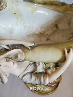 Vintage European Figural Amphora Centerpiece