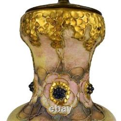 Werker Reissner Amphora Gres Berry Pottery Vase Mounted as Lamp