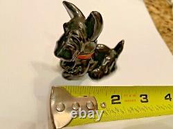 Whimsical Austrian Goldscheider Wien ceramic fox terrier Scottish Art Nouveau